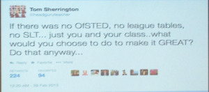tom sherrington tweet #TLT14  conference