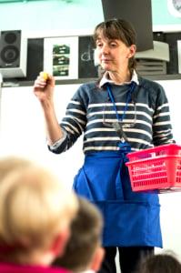 teacher showing a pupil