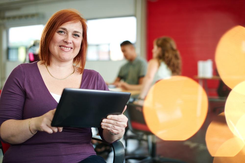 Confident female teacher