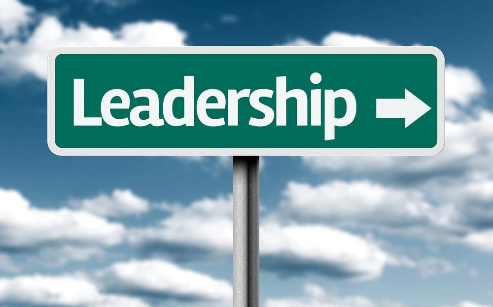 Leadership creative green sign